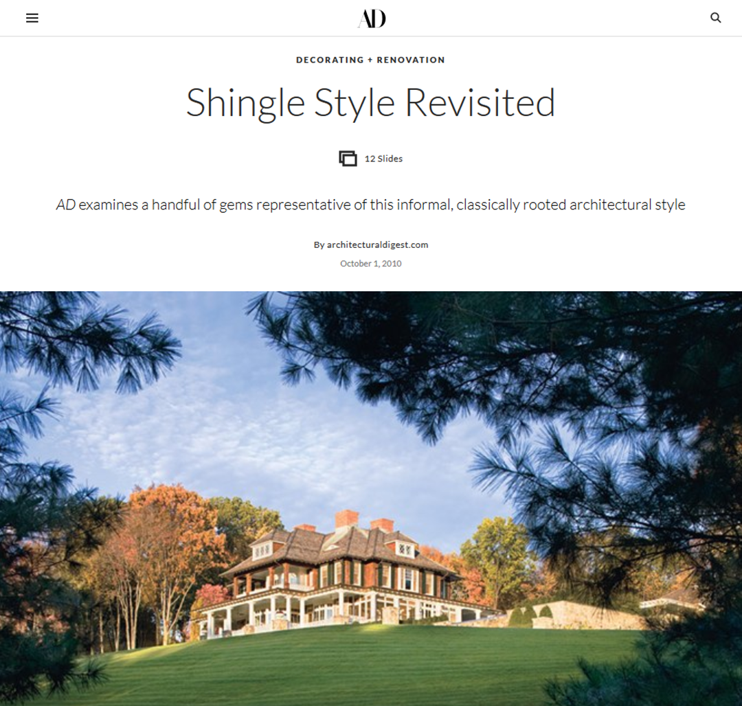 AD - Shingle Style Revisited Gallery